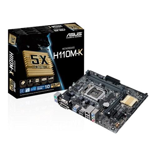 ASUS MOTHERBOARD H110M-K, S1151, DDR4, MATX