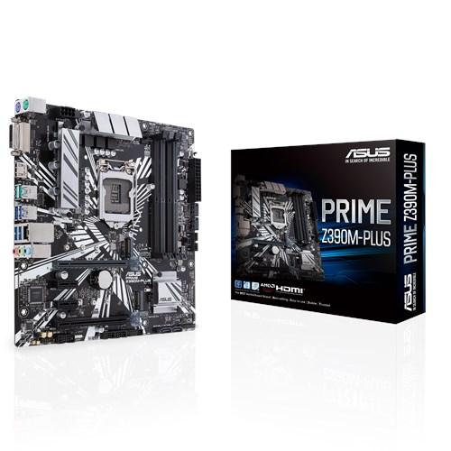 ASUS MOTHERBOARD Z390M-PLUS, 1151, DDR4, MATX