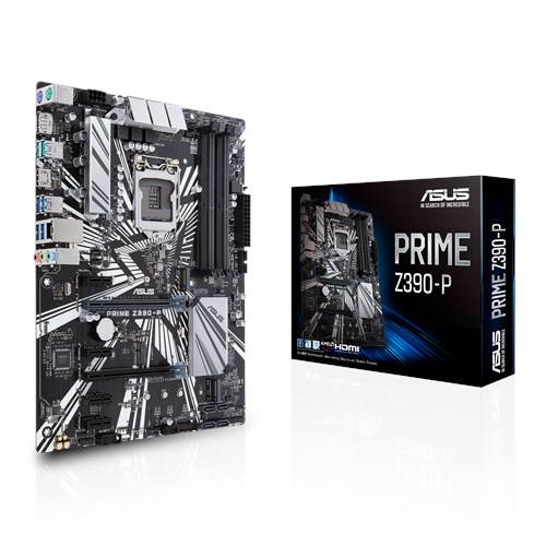 ASUS MOTHERBOARD PRIME Z390-P, 1151, DDR4, ATX