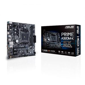 ASUS Motherboard PRIME A320M-K, AM4, DDR4, MATX