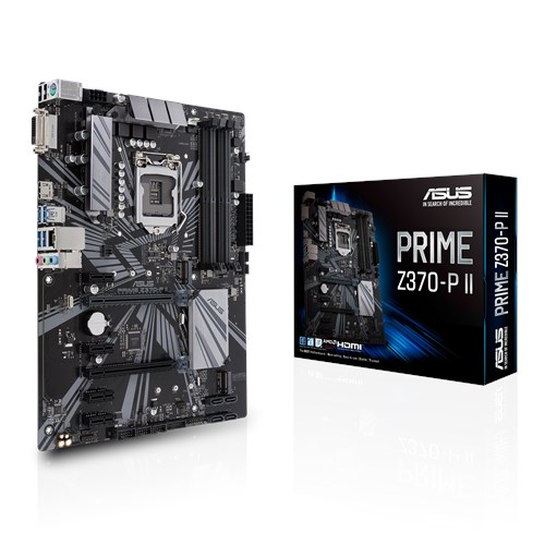 ASUS MOTHERBOARD PRIME Z370-P II , 1151, DDR4, ATX